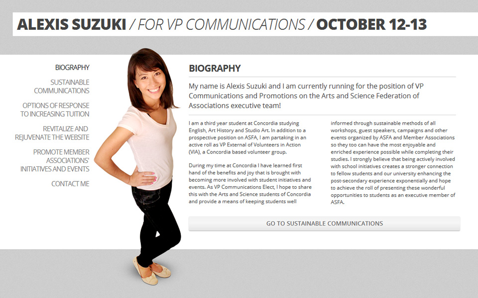 Alexis Suzuki website screenshot 1
