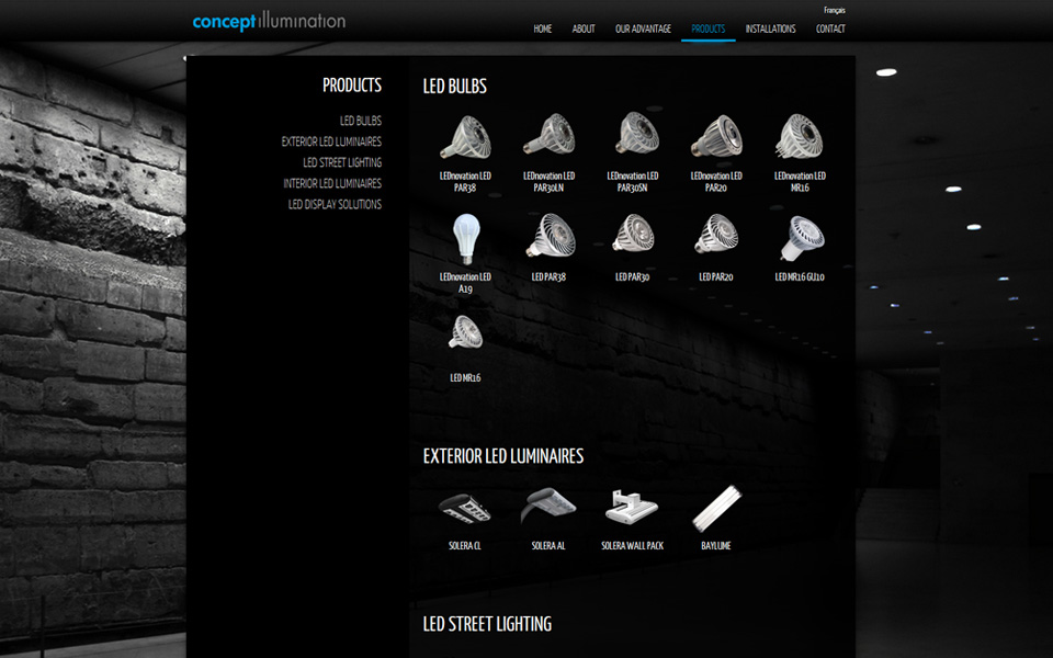 Concept Illumination website screenshot 3
