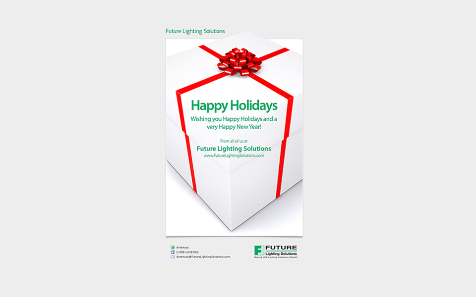 Future Lighting Solutions Happy Holidays email screenshot 2